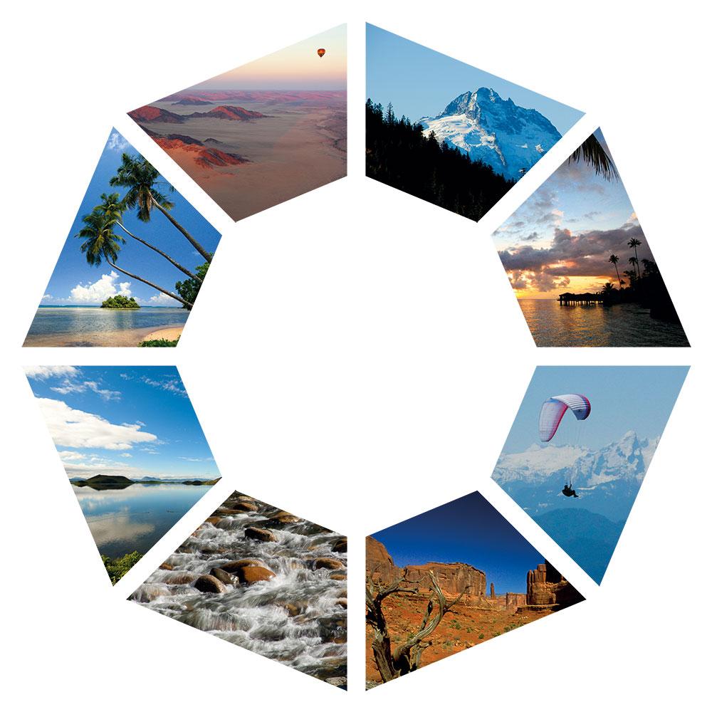 PALLAS-Seminare Logo mit 8 Fotos